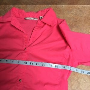 Signature by Larry Levine Tops - Signature by Larry Levine 3/4 sleeve button down